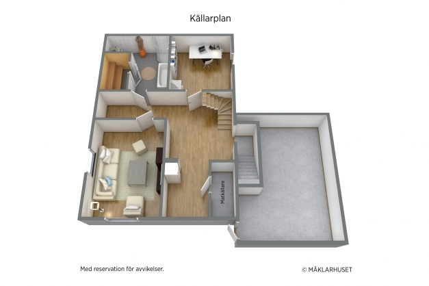 Planlösning, källarplan