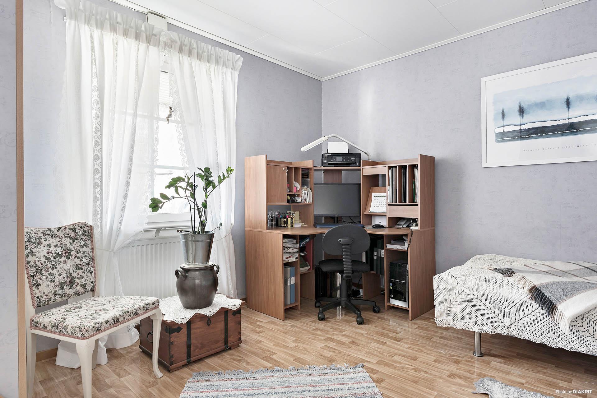 Ett av tre sovrum