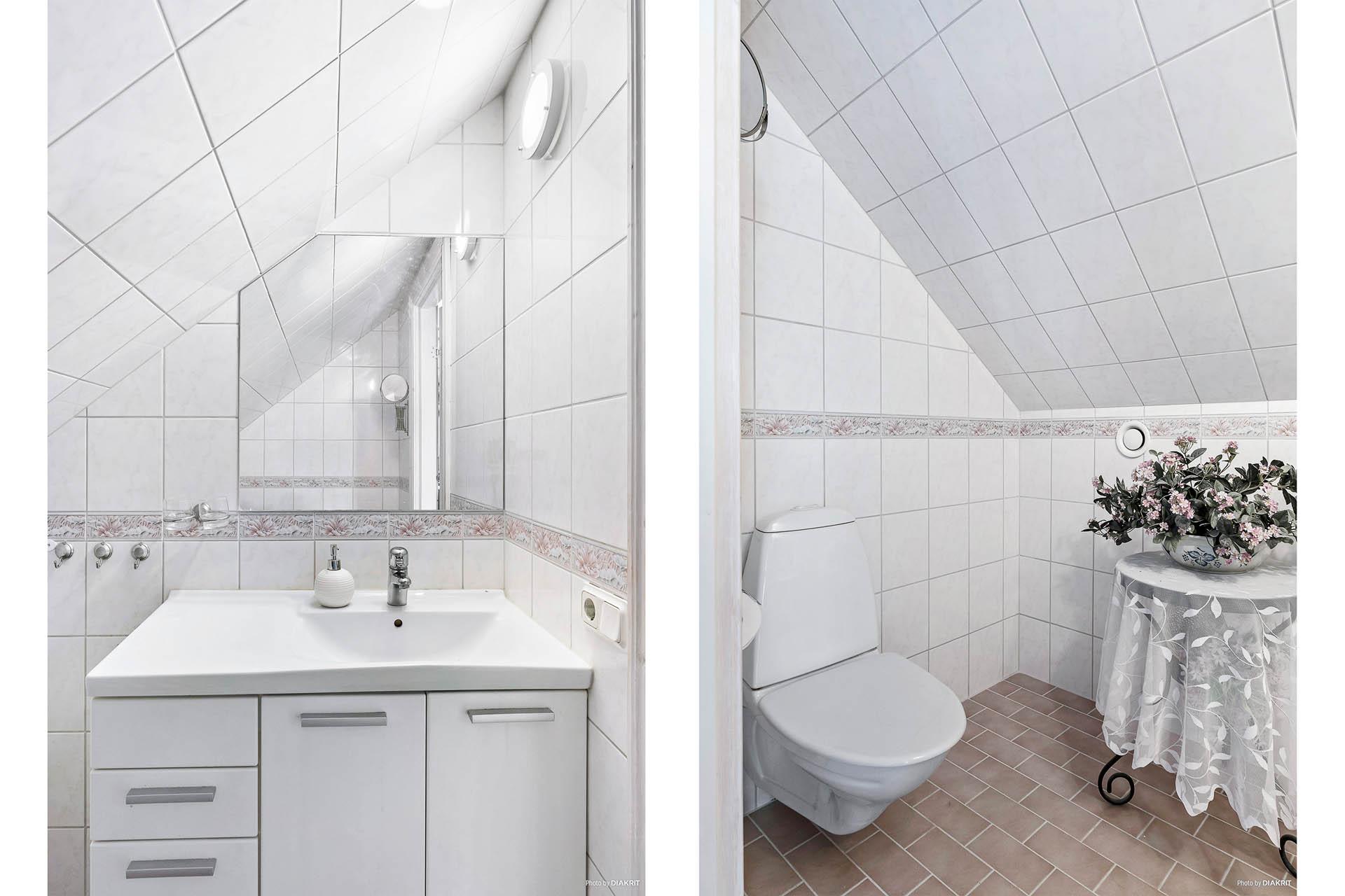 Toaletten en trapp upp