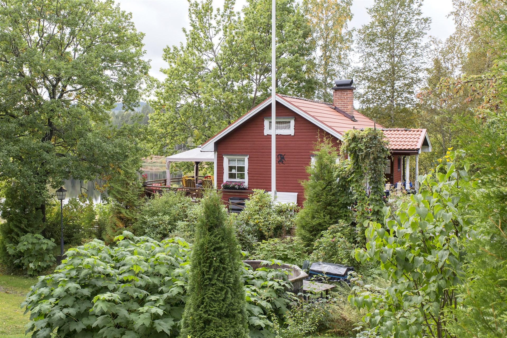 Idyllisk trädgård!