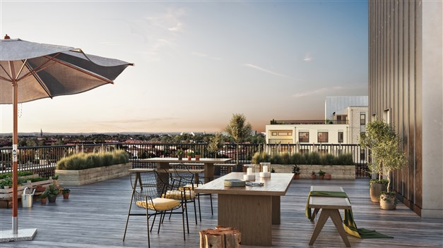 I föreningen finns det två gemensamma tak terrasser