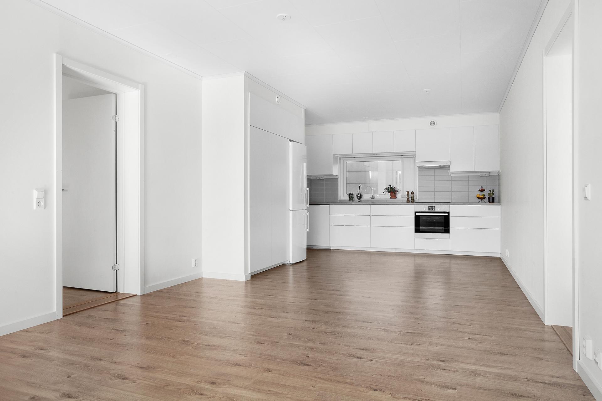 Kök & vardagsrum i öppenplanlösning
