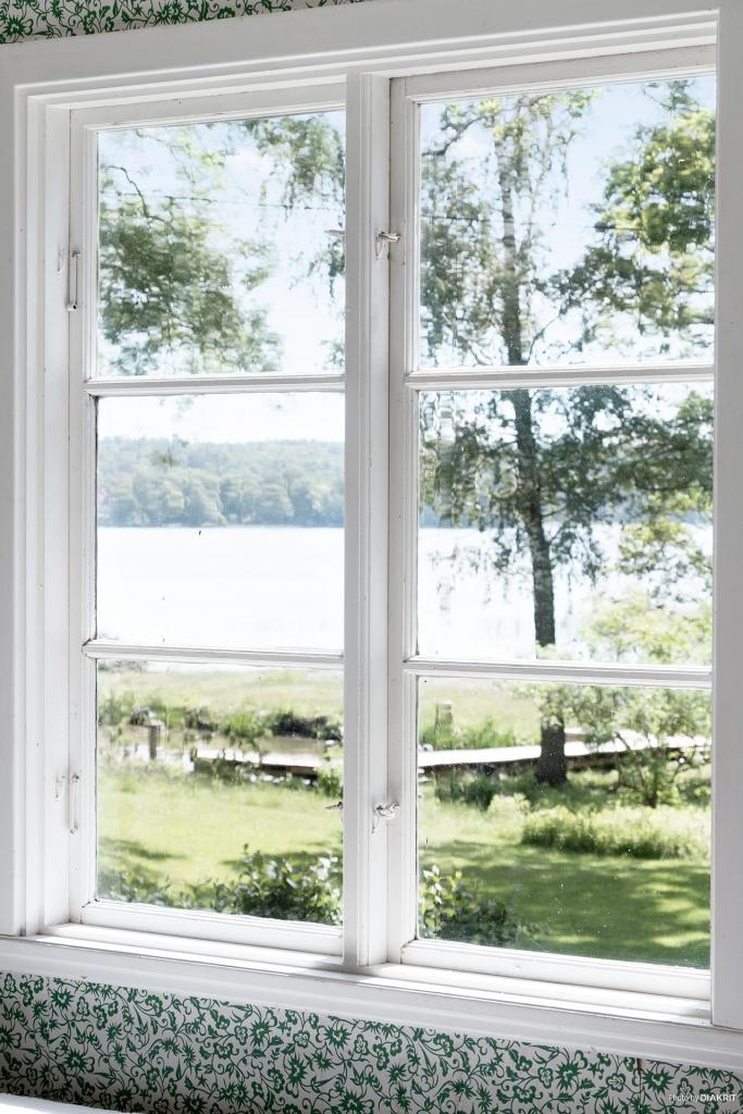 Vacker vy från ett av fönstren i allrummet