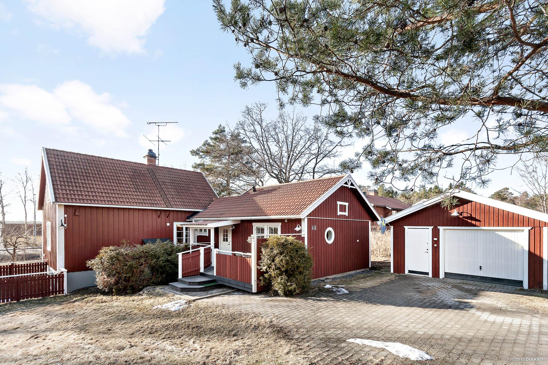 Varmt välkommen till Gränsvägen 48, rymlig villa med garage