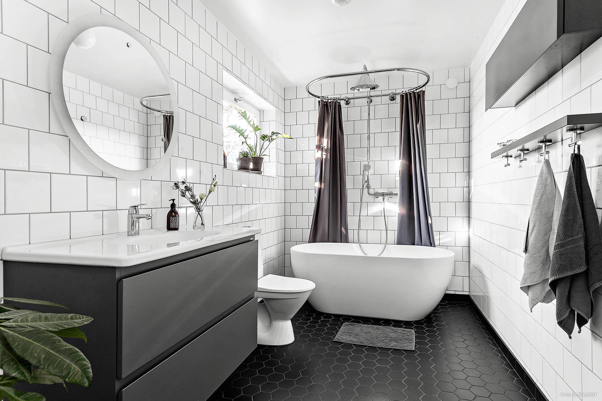 Påkostat och renoverat badrum