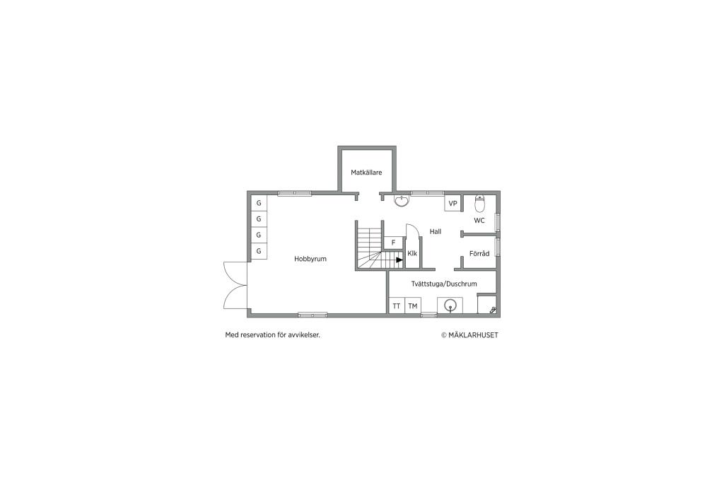 Planlösning källarvåning