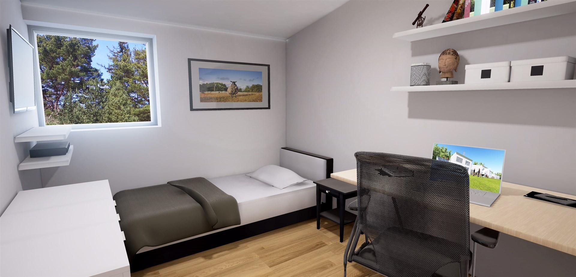 Sovrum 2 på övervåningen