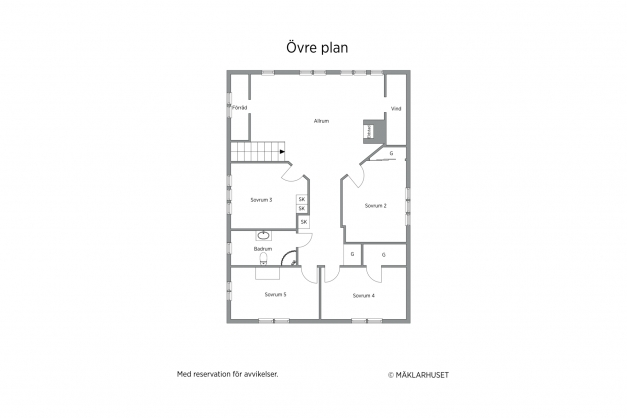 Övre plan/boningshus