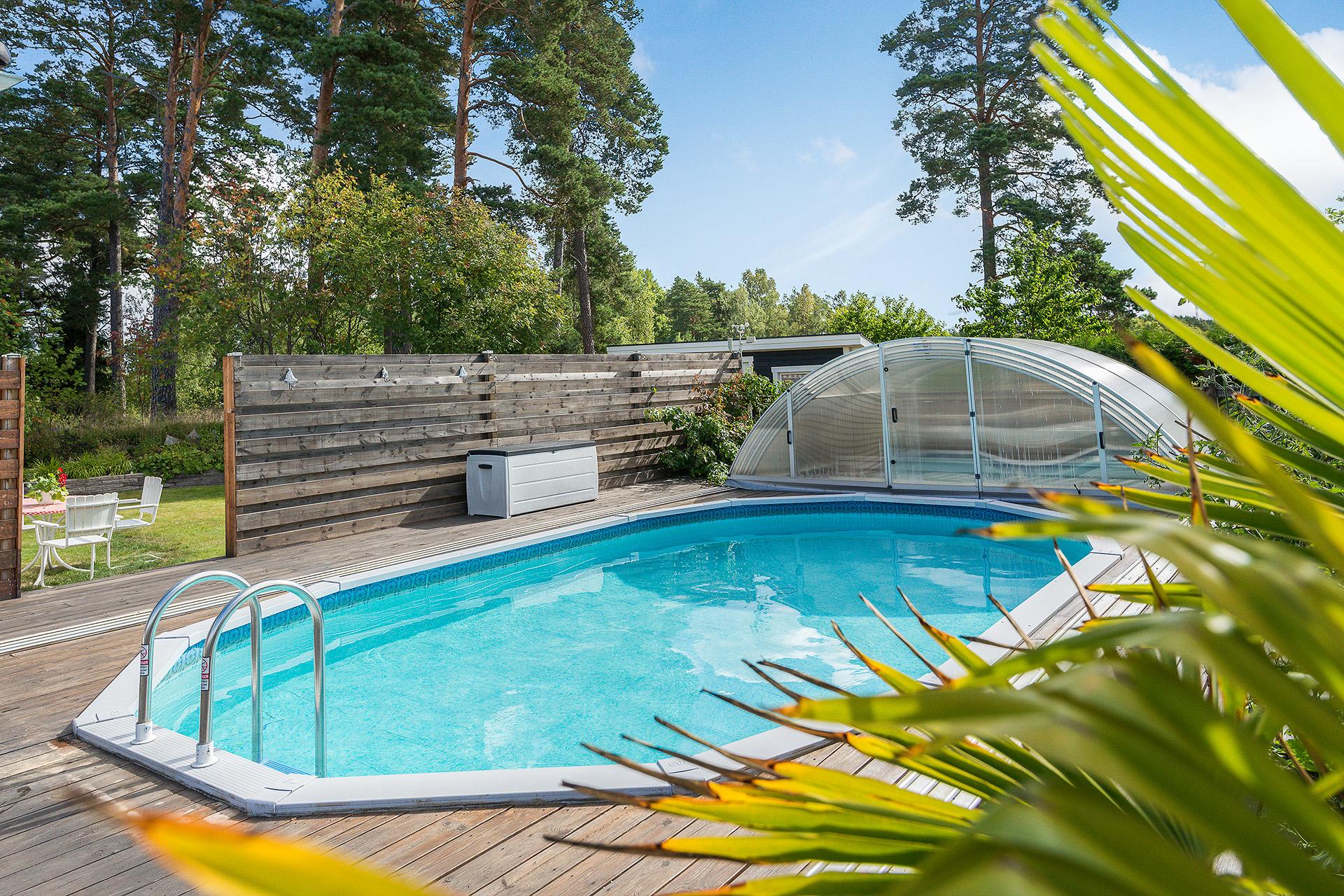 Mysigt poolområde
