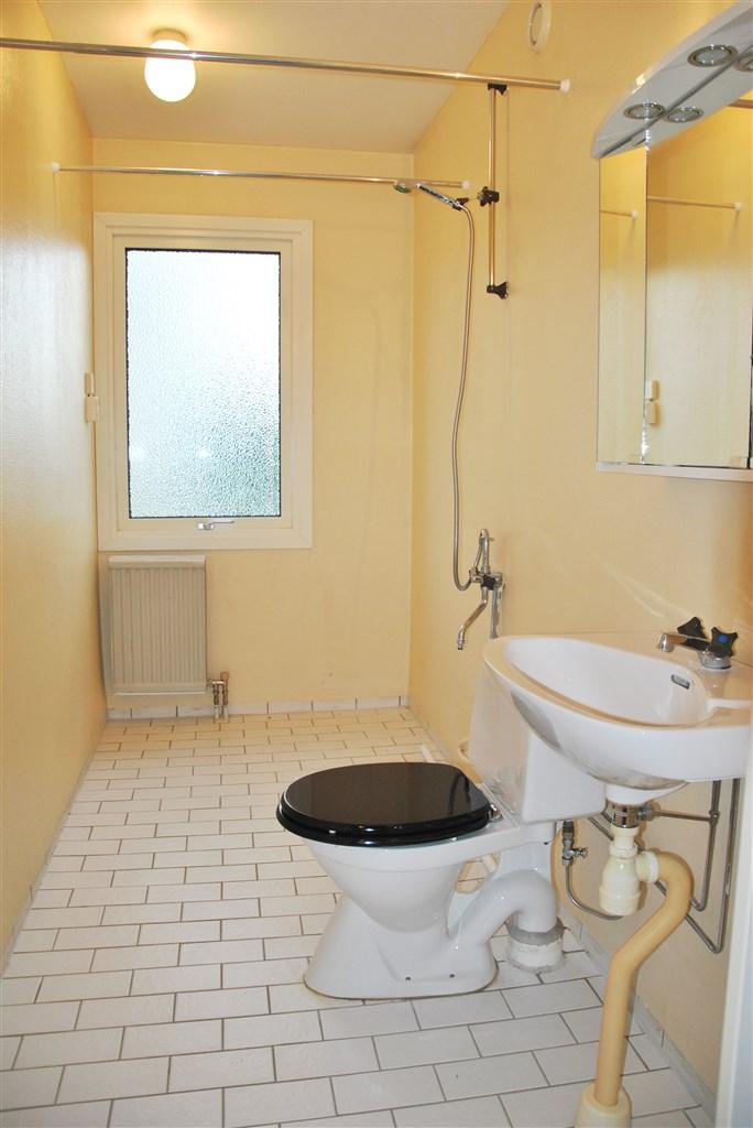 Wc/duschrum med klinkergolv!