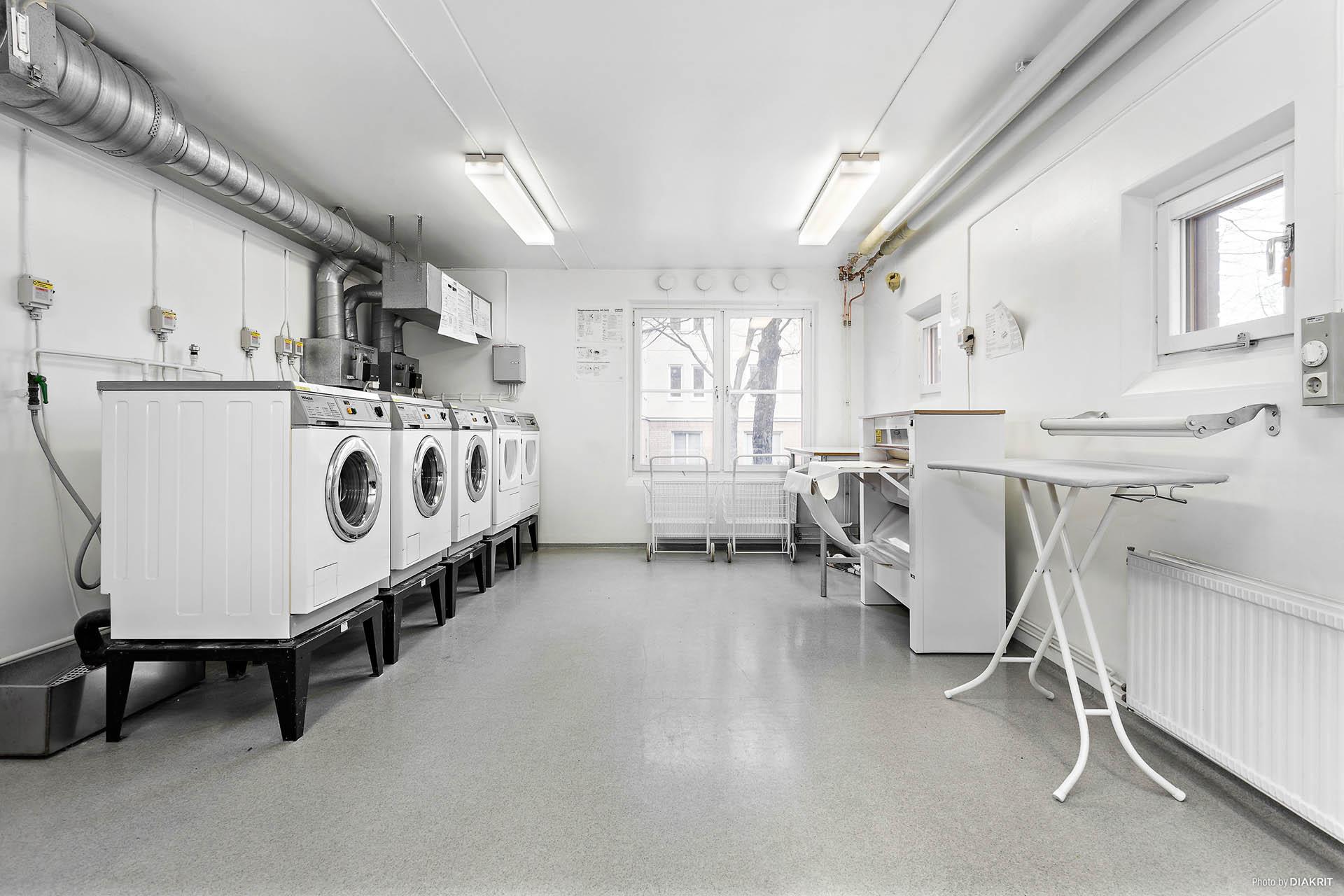 Tvättstuga på entréplanet