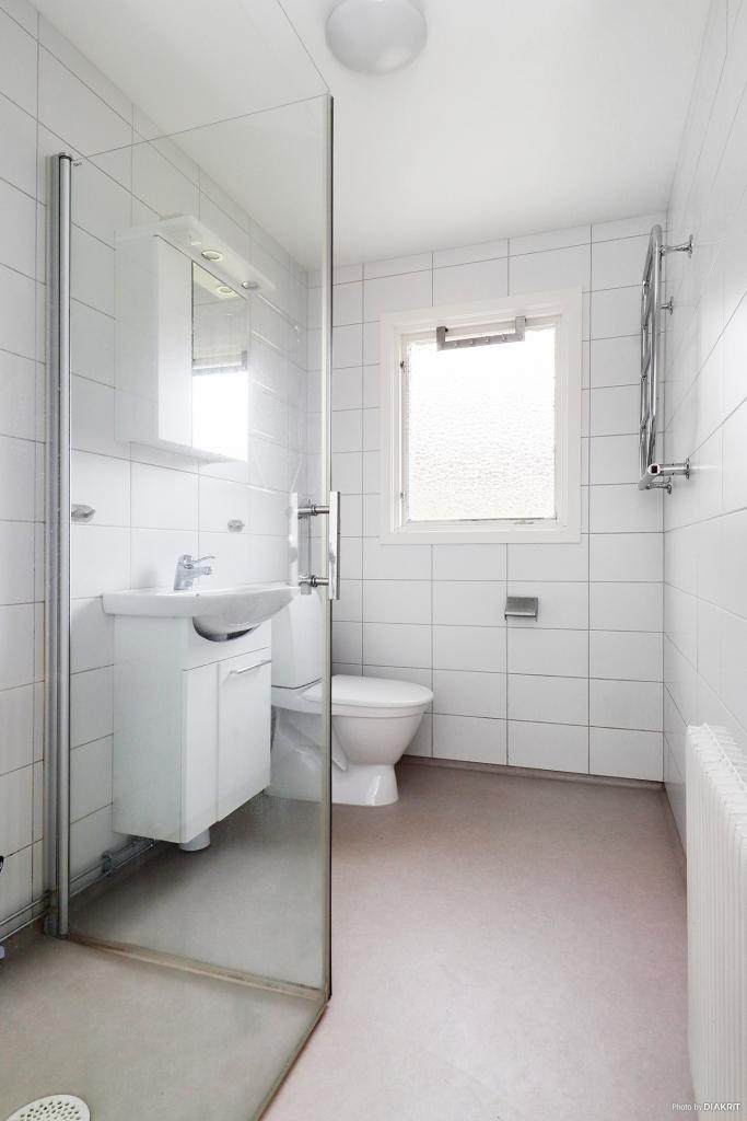 Badrummet på övervåningen