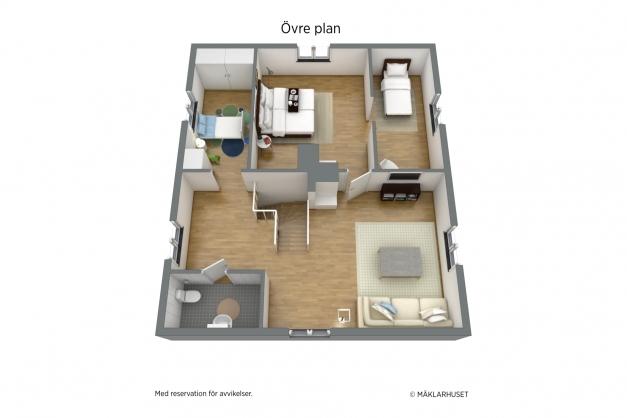 Planlösning, övre plan