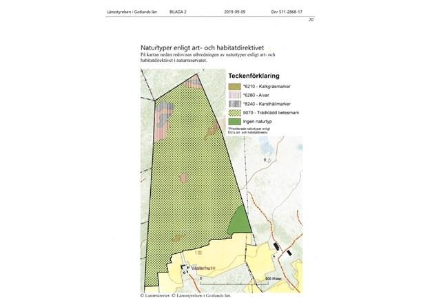 Karta på naturreservatet