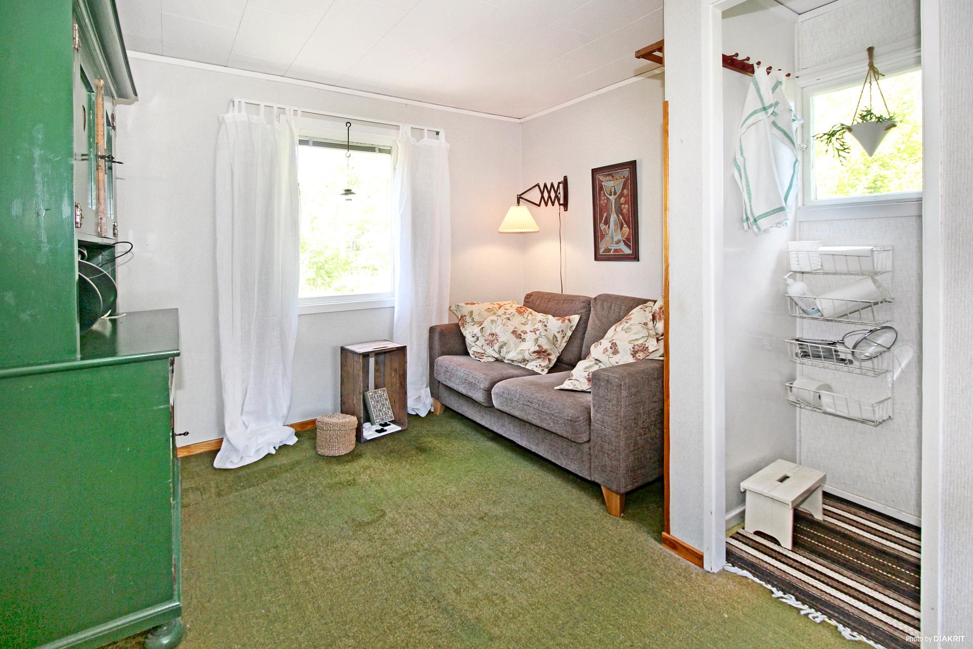 Sovrummet med tvättrum
