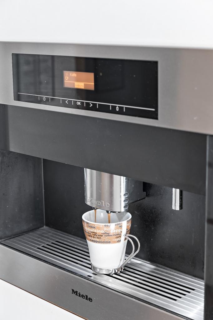 Integrerad kaffemaskin