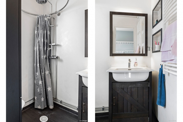 Fräscht duschrum.