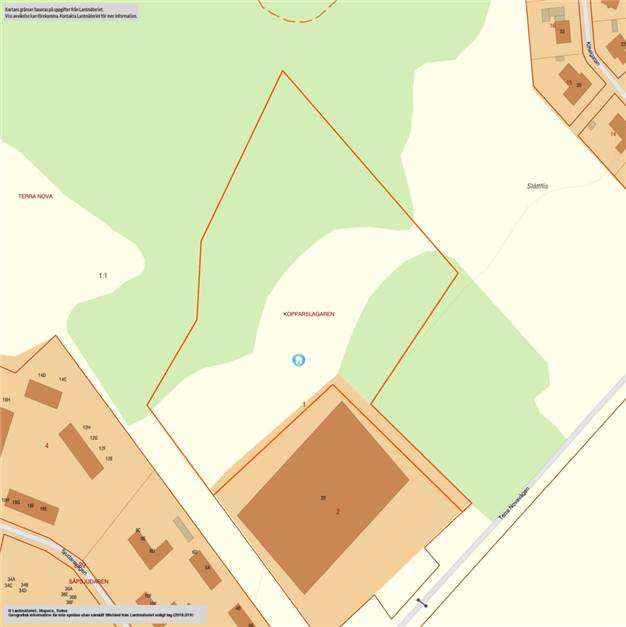 Karta över området