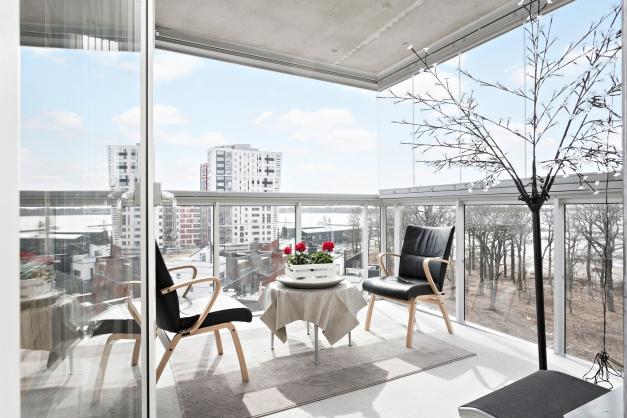 Balkong med fin utsikt