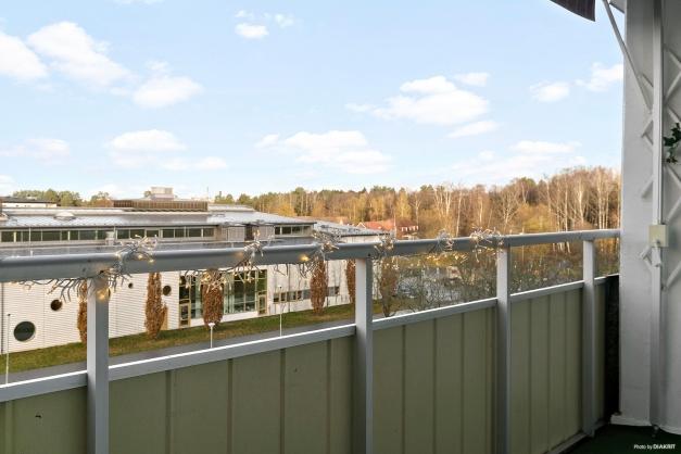 Balkong med härlig utsikt
