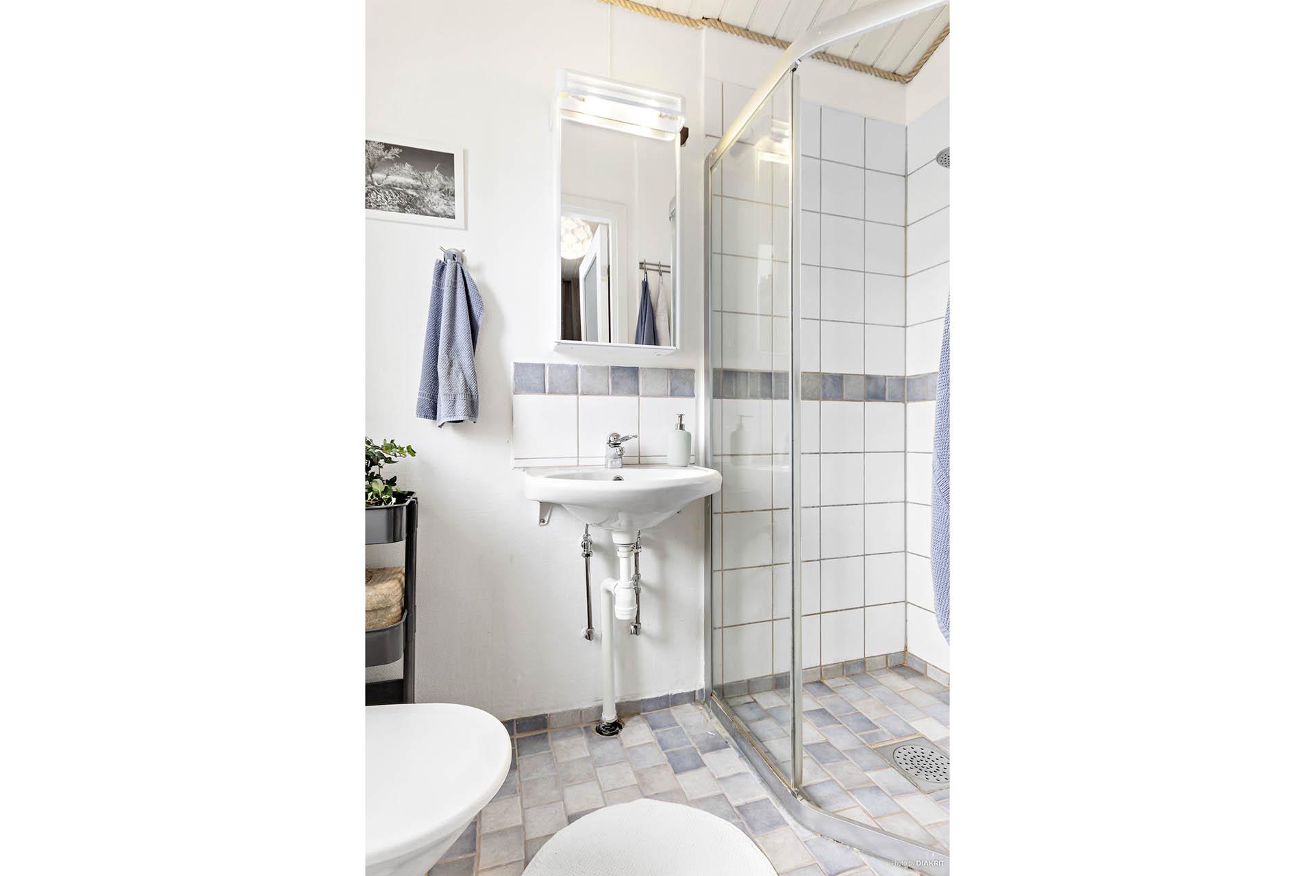 Gäst-wc med duschhörna