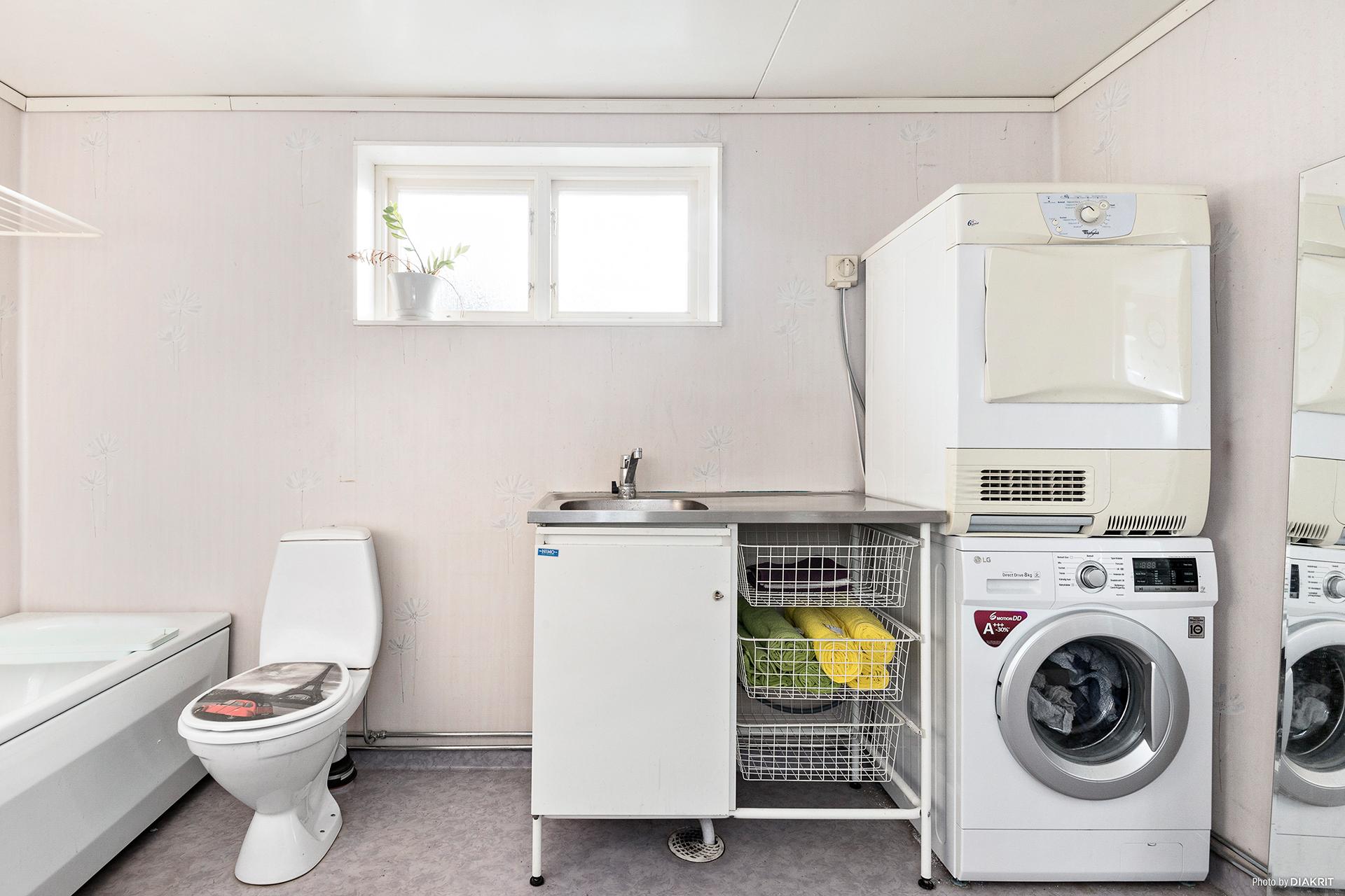 Kombinerad tvättstuga/badrum