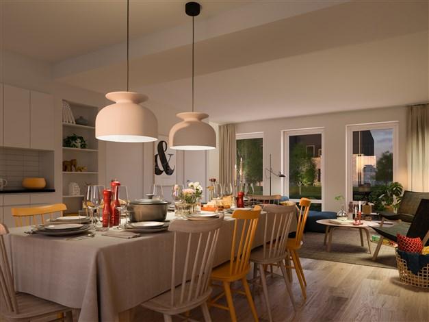 Kvadraten - Kök med plats för många gäster