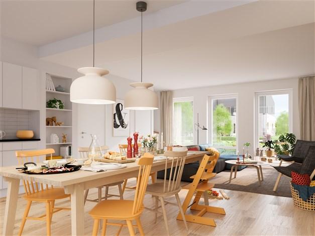 Kvadraten - Trevligt kök med plats för stor matgrupp