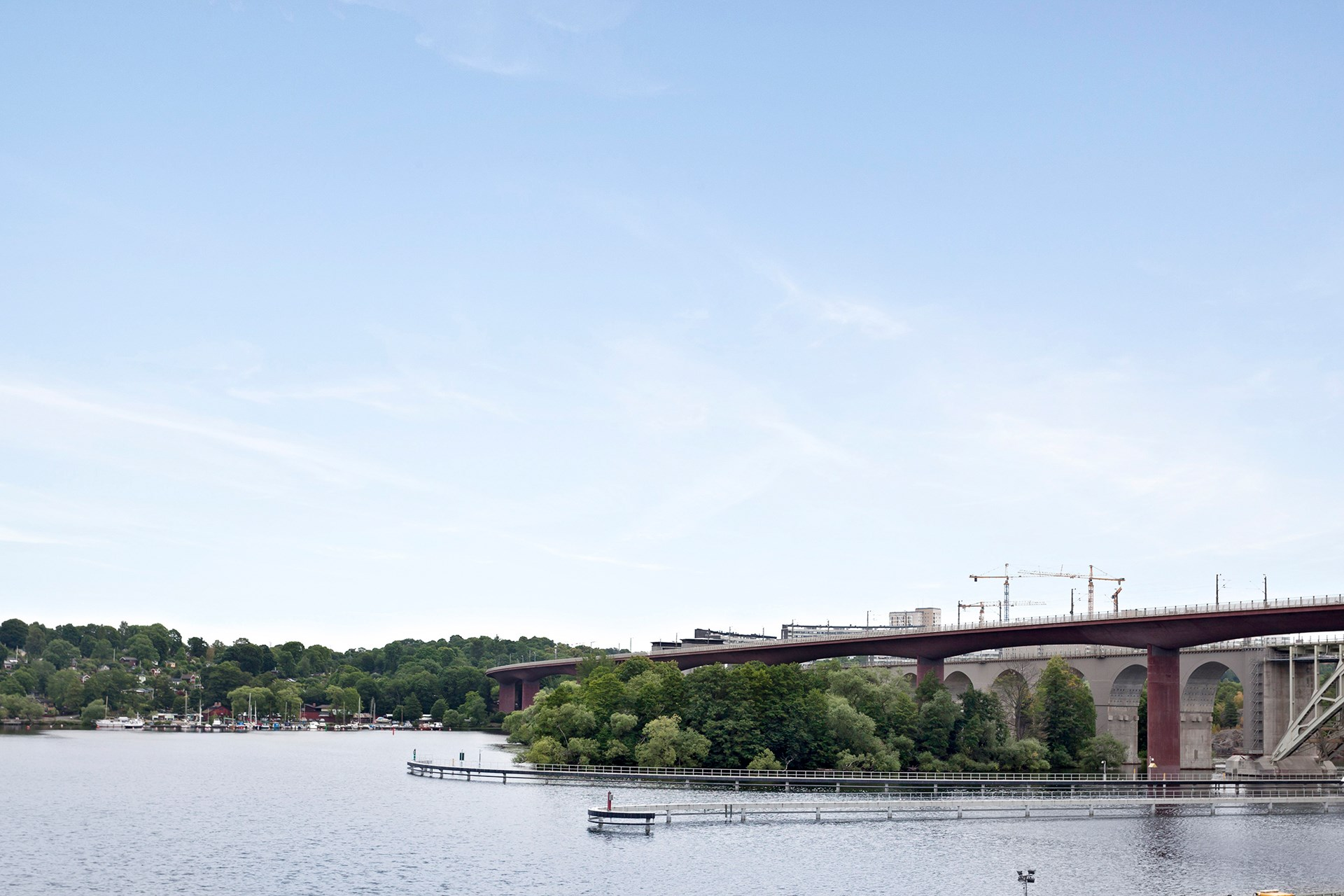 Utsikt mot Tantolunden och Södermalm.