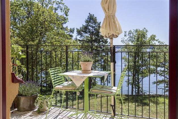 Balkong med fantastisk utsikt