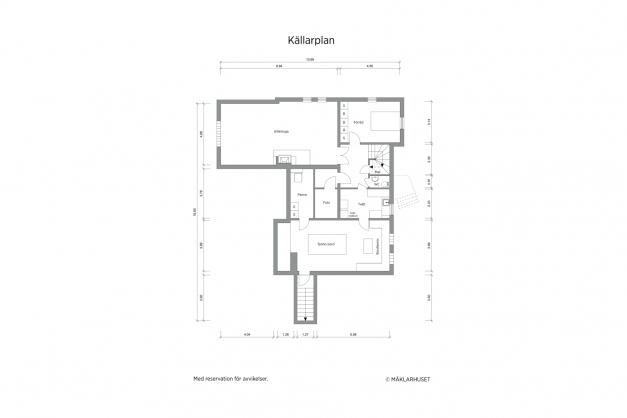 Planritning 2-d källare
