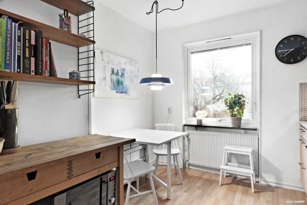 Fin liten plats för matbordet i köket
