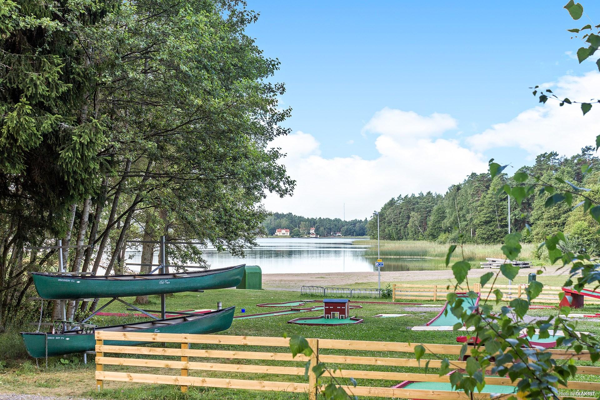 Minigolf vid Lillsjön
