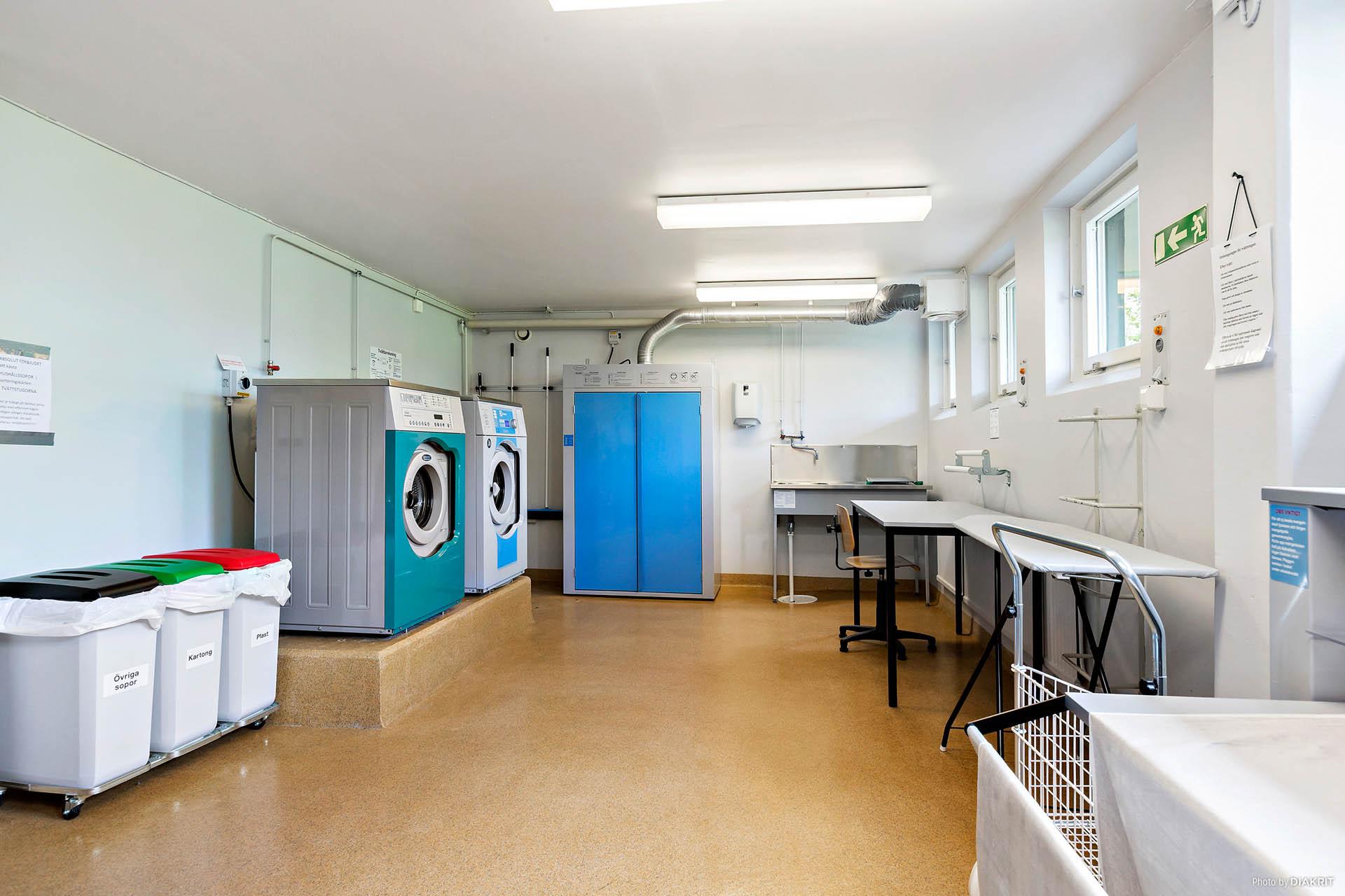 En av tvättstugorna i föreningen