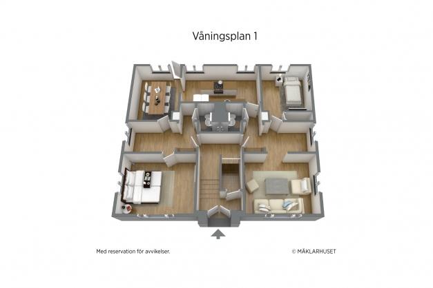 Planritning våningsplan 1 - ej skalenlig