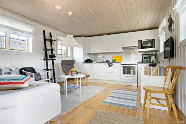 Rum med modernt kök