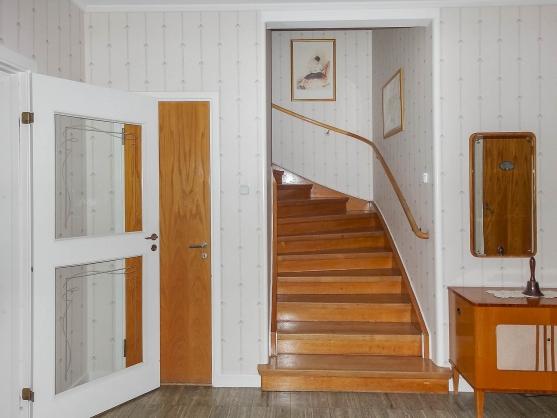 Trappan upp till övervåningen