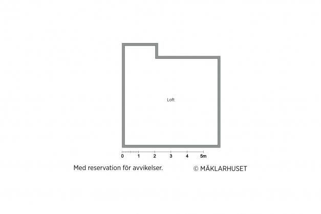 Planritning loft (avvikelser kan förekomma och skalenlighet kan ej garanteras)