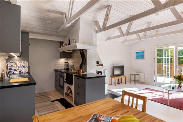 Köket och vardagsrummet