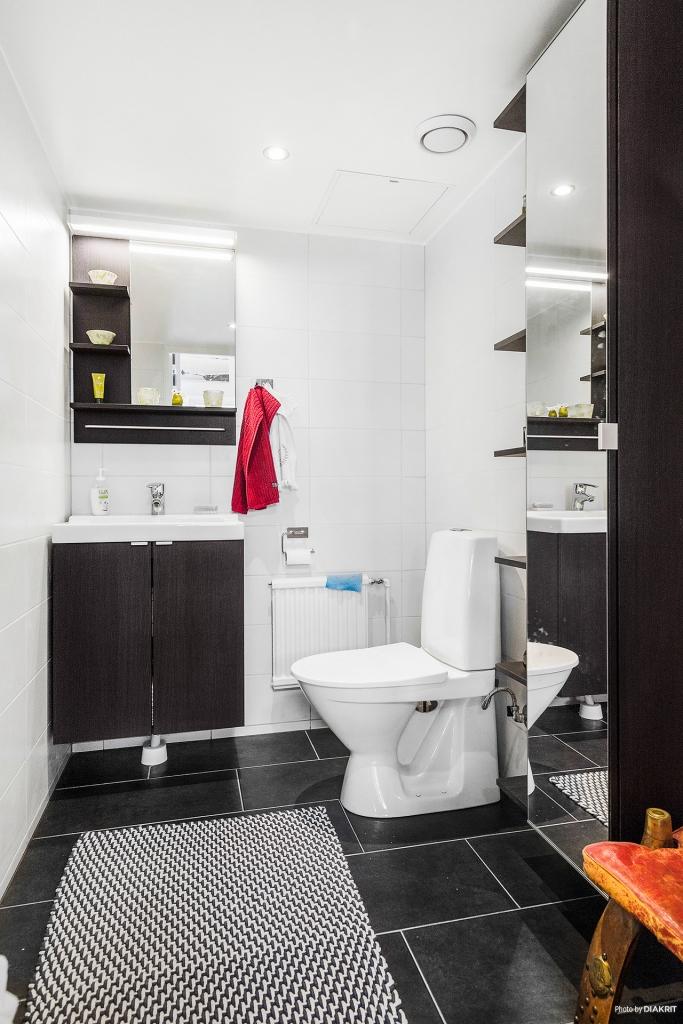 Toalett bostad.