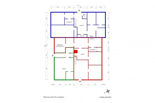 Planritning 2-d entréplan