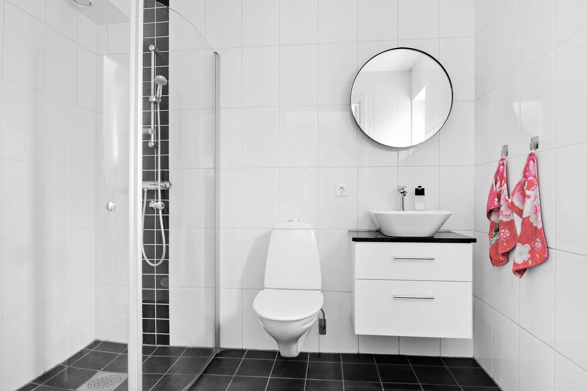 Helkaklat badrum entréplan