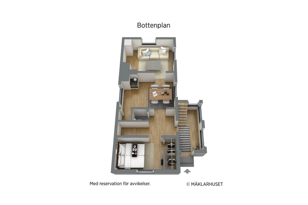 Planritning Gårdshus