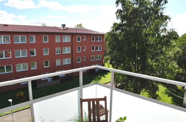 Utsiktsvy från balkong mot sydväst