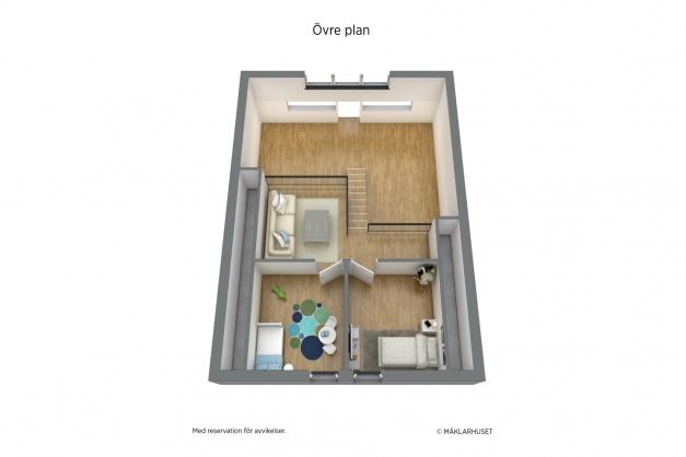 Planritning 3D, övervåning