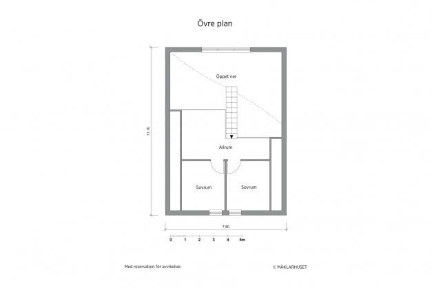 Planritning 2D, övervåning
