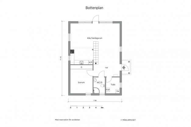 Planritning 2D, bottenvåning