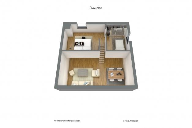Planritning loft 2D