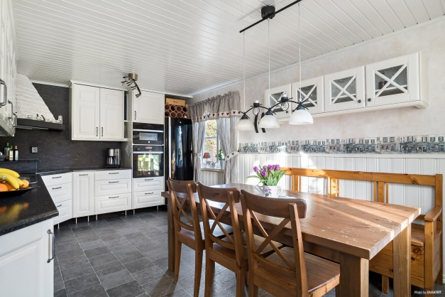 Det moderna köket i lantlig stil.