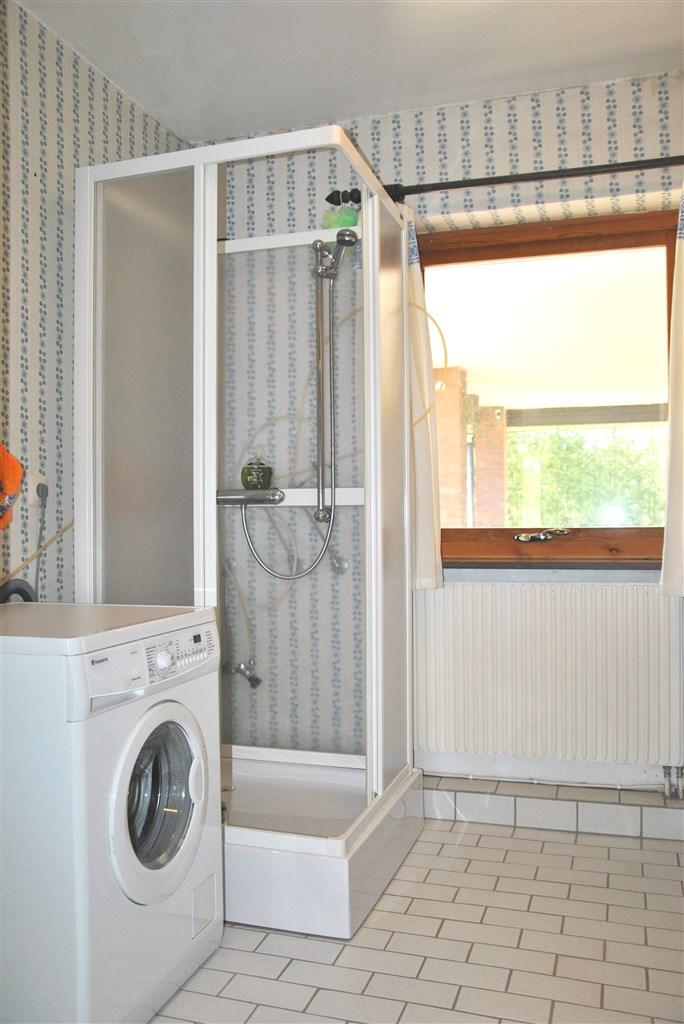 Tvättavdelning inkl. duschplats